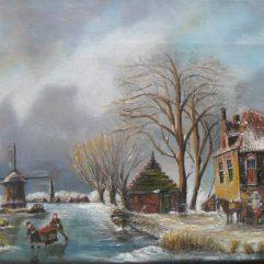 Schilderijen eigen Atelier Willy